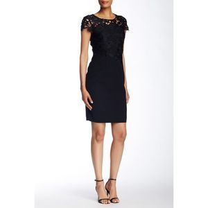 T Tahari Black Lace Carly Dress 10